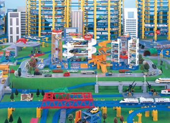 Takara Tomy Tomica Super Auto Tomica Town Building First Color Ver Parking lot Bau- & Konstruktionsspielzeug-Sets