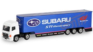 トイザらスオリジナル SUBARU STI Motor sport レーシングトランスポーター